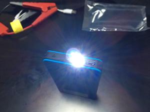 バッテリーLEDライト点灯画像